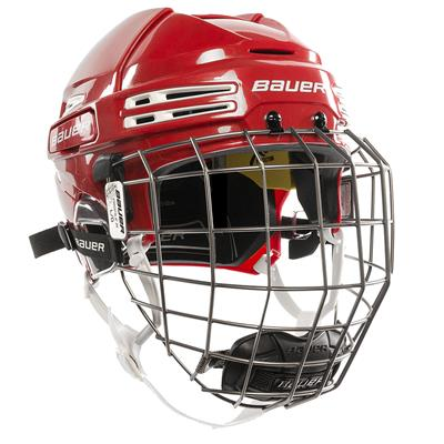 Red/White (Bauer RE-AKT 75 Hockey Helmet Combo)
