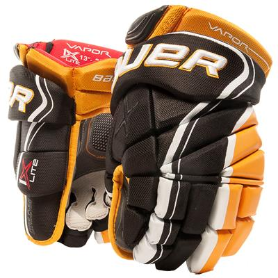 Black/Gold (Bauer Vapor 1X Lite Hockey Gloves - Senior)