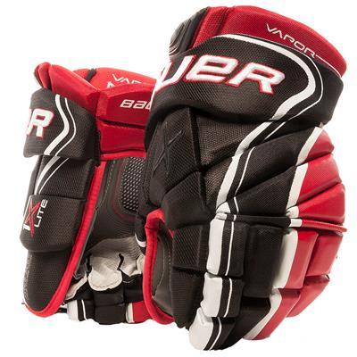 Black/Red (Bauer Vapor 1X Lite Hockey Gloves - Senior)