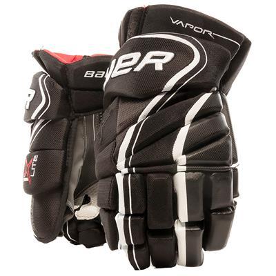 Black/White (Bauer Vapor 1X Lite Hockey Gloves - Senior)