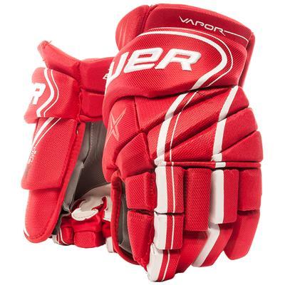 Red (Bauer Vapor X900 Lite Hockey Gloves)