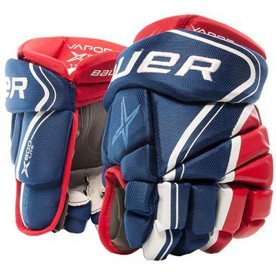 Blue/Red/White (Bauer Vapor X800 Lite Hockey Gloves)