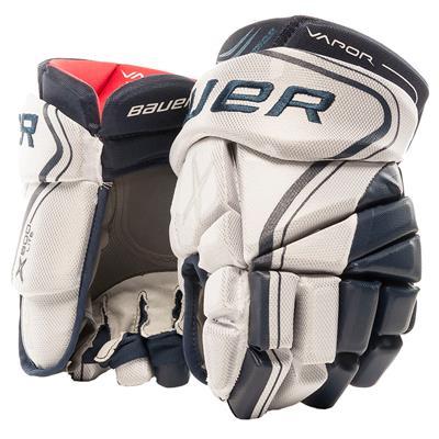 White/Navy (Bauer Vapor X800 Lite Hockey Gloves)
