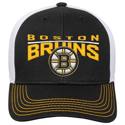 Front (Adidas Boston Bruins Winger Youth Hat)