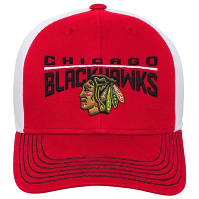 Front (Adidas Chicago Blackhawks Winger Youth Hat)