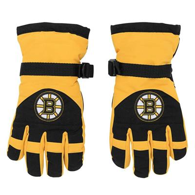 Front (Adidas Nylon Winter Gloves - Boston Bruins - Youth)