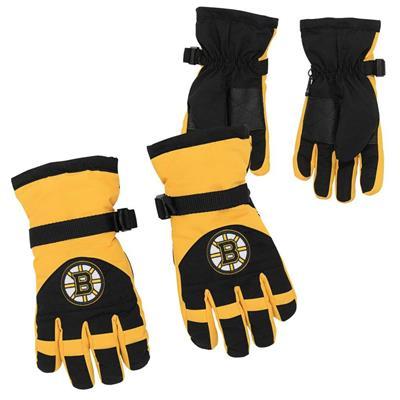 Both (Adidas Nylon Winter Gloves - Boston Bruins - Youth)