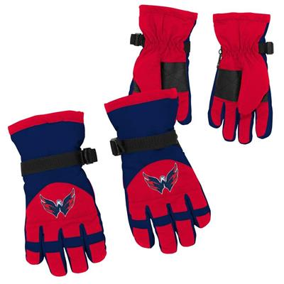 Both (Adidas Nylon Winter Gloves - Washington Capitals - Youth)