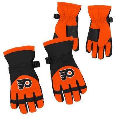 Both (Adidas Nylon Winter Gloves - Philadelphia Flyers - Youth)