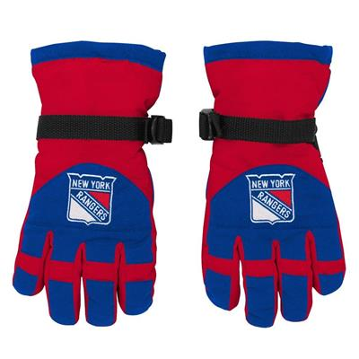 Front (Adidas Nylon Winter Gloves - New York Rangers - Youth)