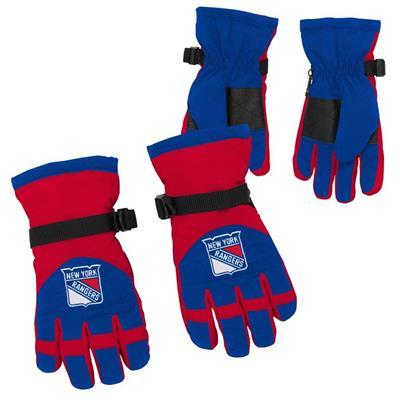 Both (Adidas Nylon Winter Gloves - New York Rangers - Youth)