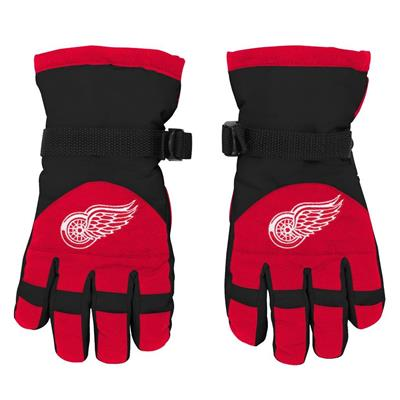 Front (Adidas Nylon Winter Gloves - Detroit Red Wings - Youth)