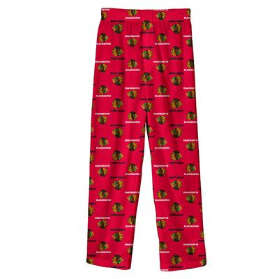 (Adidas Printed Pajama Pants - Chicago Blackhawks - Youth)