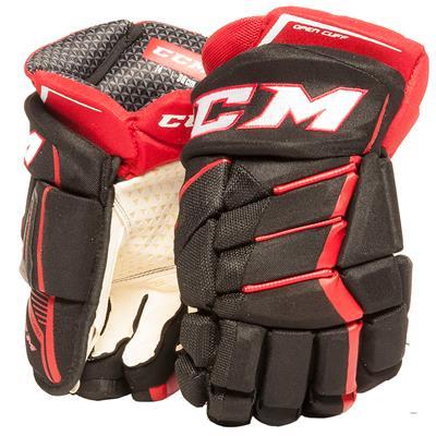 Black/Red/White (CCM JetSpeed Purelite Hockey Gloves - Senior)