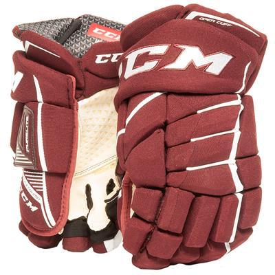 Maroon/White (CCM JetSpeed Purelite Hockey Gloves - Senior)