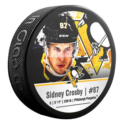 (InGlasco NHLPA Hockey Puck - Sydney Crosby - #87 - Pittsburgh Penguins)