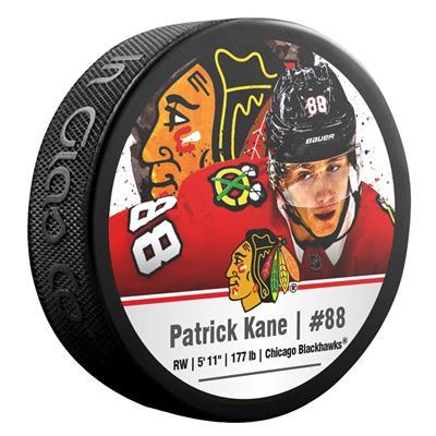 (InGlasco NHLPA Hockey Puck - Patrick Kane - #88 - Chicago Blackhawks)