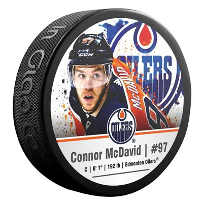 (InGlasco NHLPA Hockey Puck - Connor McDavid - #97 - Edmonton Oilers)