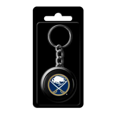 (InGlasco NHL Puck Keychain - Buffalo Sabres)