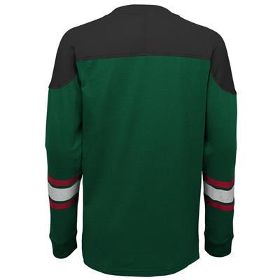 Back (Adidas Minnesota Wild Perennial Long Sleeve Tee Shirt - Youth)