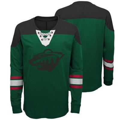 Minnesota Wild (Adidas Minnesota Wild Perennial Long Sleeve Tee Shirt - Youth)