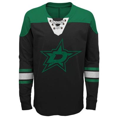 Front (Adidas Dallas Stars Perennial Long Sleeve Tee Shirt - Youth)