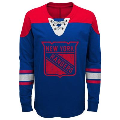 Front (Adidas New York Rangers Perennial Long Sleeve Tee Shirt - Youth) 03cd1f236