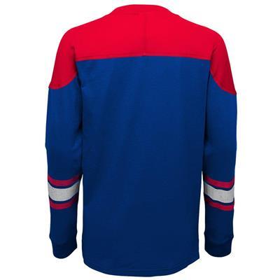Back (Adidas New York Rangers Perennial Long Sleeve Tee Shirt - Youth)