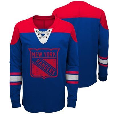 New York Rangers (Adidas New York Rangers Perennial Long Sleeve Tee Shirt - Youth)