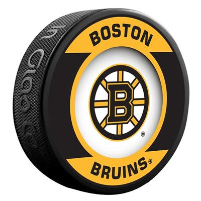 (InGlasco NHL Retro Hockey Puck - Boston Bruins)