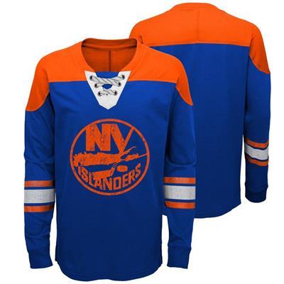 New York Islanders (Adidas New York Islanders Perennial Long Sleeve Tee Shirt - Youth)