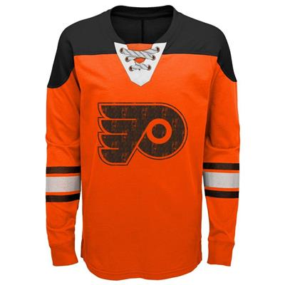 Front (Adidas Philadelphia Flyers Perennial Long Sleeve Tee Shirt - Youth)