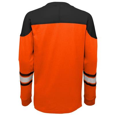 Back (Adidas Philadelphia Flyers Perennial Long Sleeve Tee Shirt - Youth)