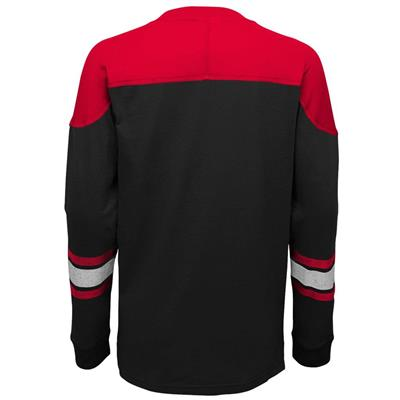 Back (Adidas New Jersey Devils Perennial Long Sleeve Tee Shirt - Youth)