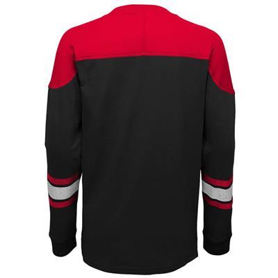 Back (Adidas New Jersey Devils Perennial Long Sleeve Tee Shirt - Youth)