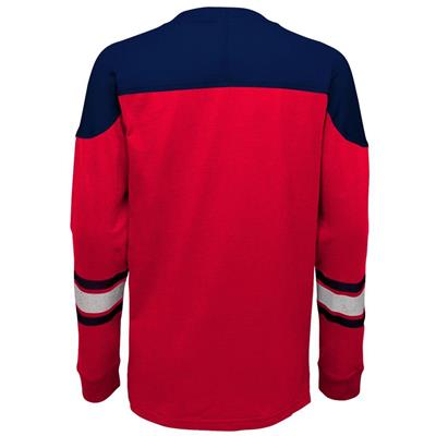 Back (Adidas Washington Capitals Perennial Long Sleeve Tee Shirt - Youth)