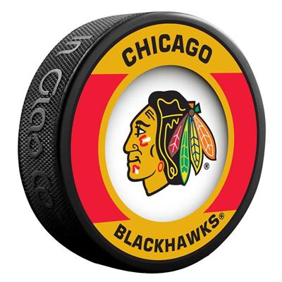 (InGlasco NHL Retro Hockey Puck - Chicago Blackhawks)