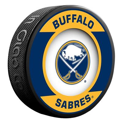 (InGlasco NHL Retro Hockey Puck - Buffalo Sabres)