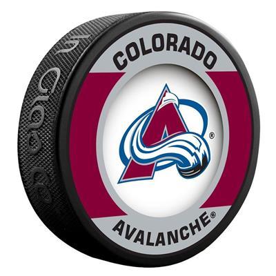 (InGlasco NHL Retro Hockey Puck - Colorado Avalanche)