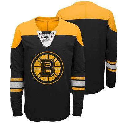 Boston Bruins (Adidas Boston Bruins Perennial Long Sleeve Tee Shirt - Youth)
