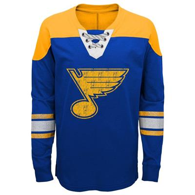 Front (Adidas St. Louis Blues Perennial Long Sleeve Tee Shirt - Youth)