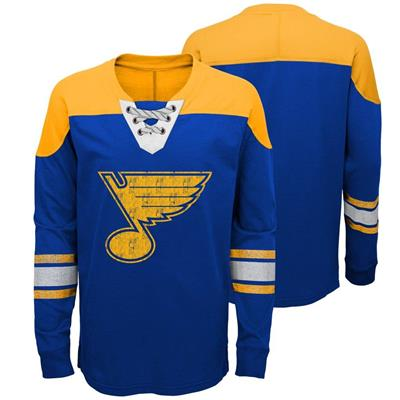 St.Louis Blues (Adidas St. Louis Blues Perennial Long Sleeve Tee Shirt - Youth)