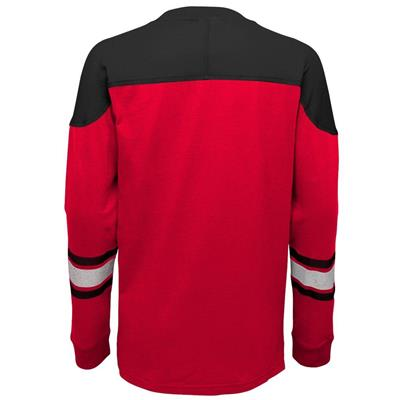 Back (Adidas Chicago Blackhawks Perennial Long Sleeve Tee Shirt - Youth)