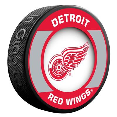 (InGlasco NHL Retro Hockey Puck - Detroit Red Wings)