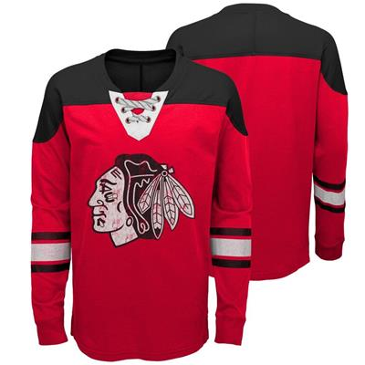 Chicago Blackhawks (Adidas Chicago Blackhawks Perennial Long Sleeve Tee Shirt - Youth)