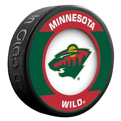 (InGlasco NHL Retro Hockey Puck - Minnesota Wild)