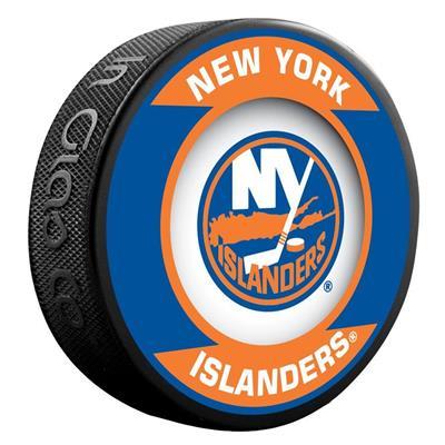 (InGlasco NHL Retro Hockey Puck - New York Islanders)