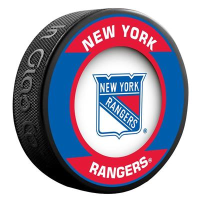 (InGlasco NHL Retro Hockey Puck - New York Rangers)