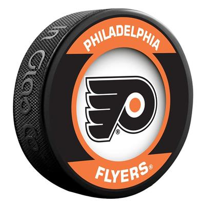 (InGlasco NHL Retro Hockey Puck - Philadelphia Flyers)