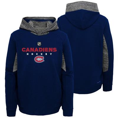 Front and Back (Adidas Hyper Physical Hoodie - Montreal Canadiens - Youth)